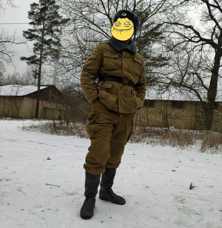 Комплект зимней формы Советской Армии СССР Афганка на охоту, рыбалку