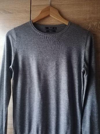 Szary sweter Mango z kaszmirem