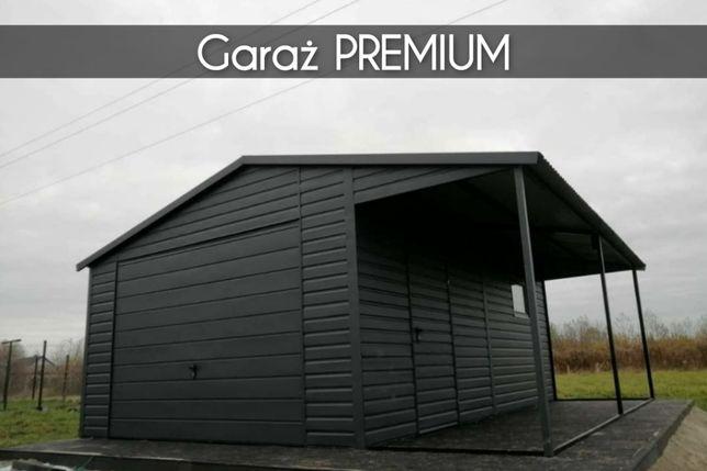 Garaż + Wiata 5x5 Czarny PREMIUM domek letniskowy