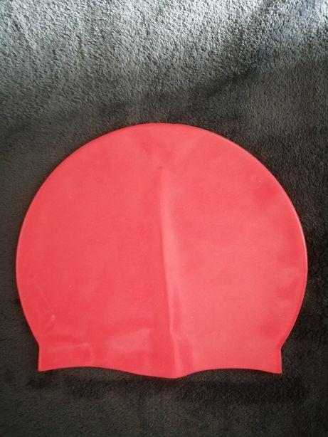 Шапка для бассейна детская . Шапочка для купания. Красная шапочка