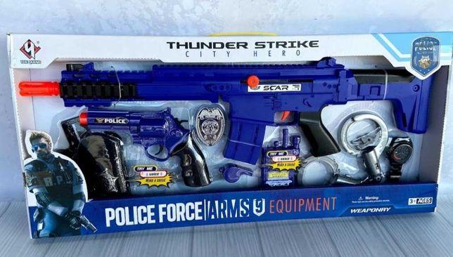 Набор полицейского с автоматом и пистолетом Thunder Strike детский