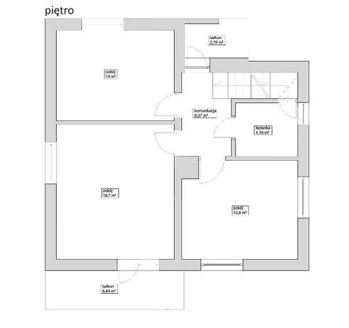 Plażowa dom piętrowy z garażem