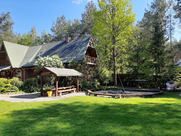 Duzy dom, działka , rzeka, las , kajaki, rowery, tenis 70 km Wawa