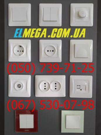 Розетки и выключатели Videx Binera (белые, кремовые)