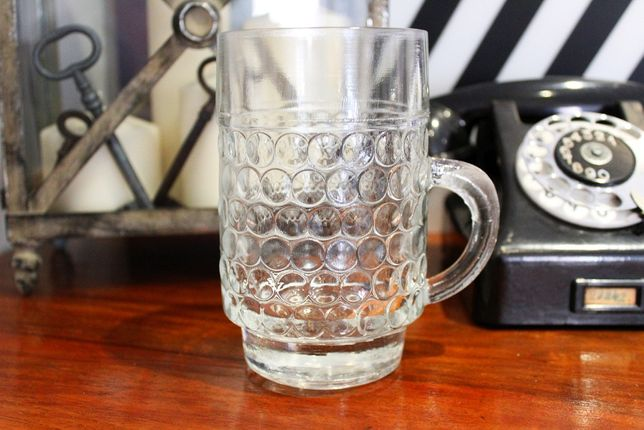 Kufel na piwo, szklany, stary, 50-60szt.