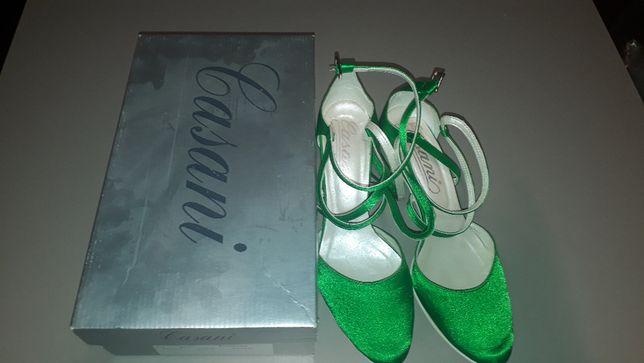 Buty na obcasie Casani |Zielone | 79zl z 209zl