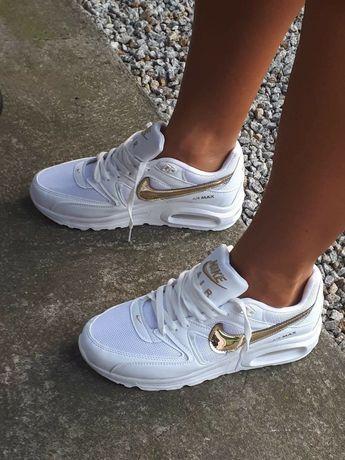 Buty sportowe damskie Nike air Max bialo zlote 36 do 40 rozmiary