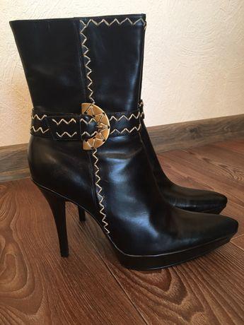 Сапоги кожаные ботиночки полусапожки 38 р
