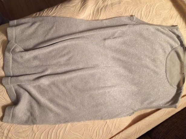 Bluzka srebrna L - bez ramiączek