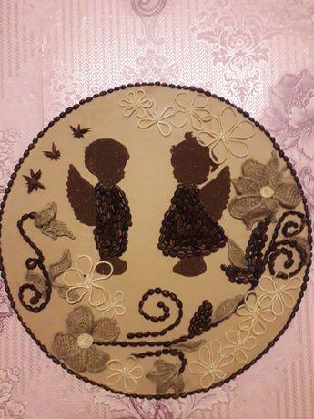 Картина (панно) з кавових зерен