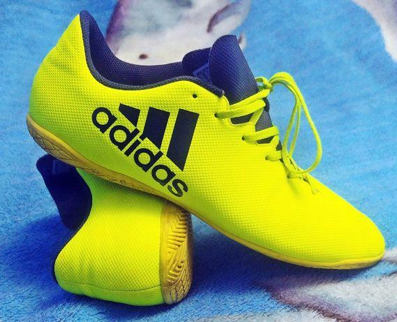 Męskie buty halowe Adidas X 17.4 IN (S82407) rozmiar 46