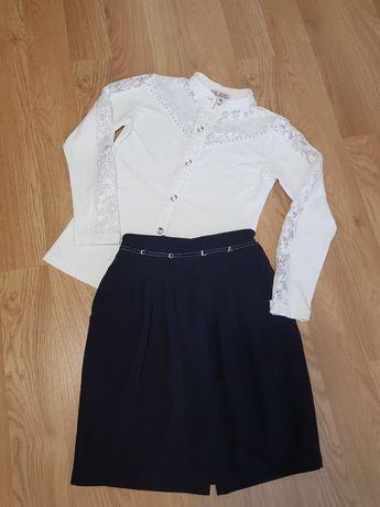 Фирменные вещи ТМ COLABEAR для школы на 10-14 лет, юбка, блузка