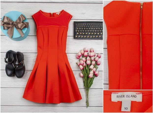 Платьице RI морковного цвета