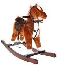 Brązowy koń na biegunach 74cm