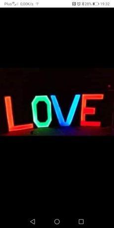 Napis Love wesele led
