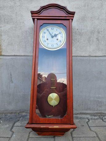 Stary wielki drewniany zegar ścienny POLARIS