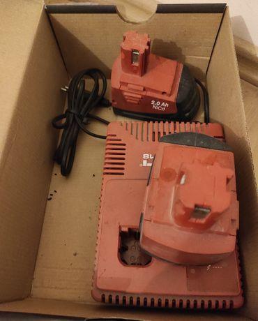 Sprzedam dwa akumulatory Hilti + Ładowarka 2 Ah