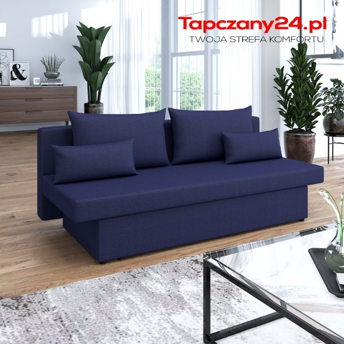 Tapczan Sofa rozkładana z pojemnikiem Wersalka z funkcją spania Kanapa