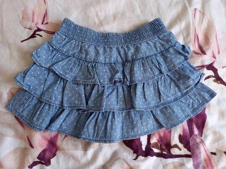 Spódniczka falbanka ala jeans
