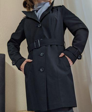 Новый чёрный тренч, плащ размер М, Stormwear M&S COLLECTION