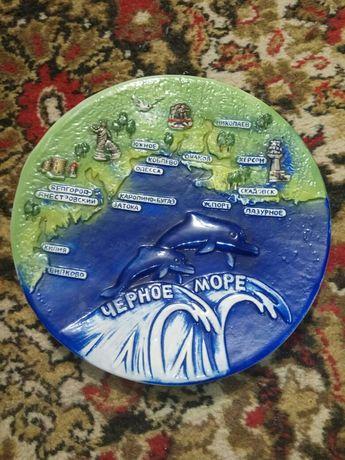 Сувенир тарелка керамика