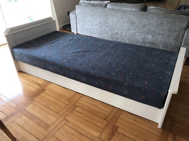 Łóżko 90x210 z materacem jednoosobowe