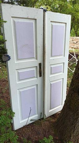 stare drzwi drewniane DWUSKRZYDŁOWE PRL