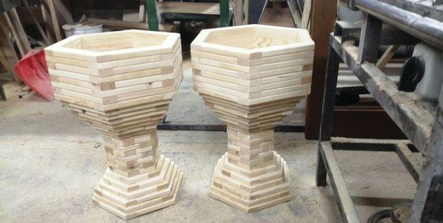 Donice ogrodowe doniczki z drewna
