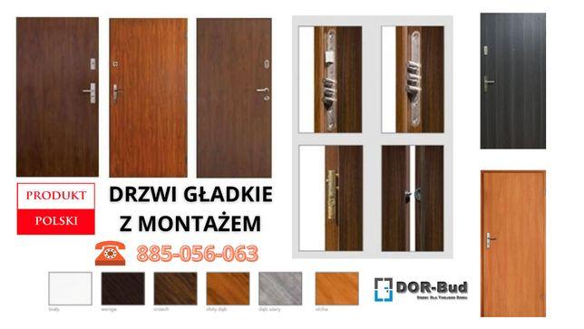 Drzwi wewnątrzklatkowe wejściowe do mieszkania w bloku z montażem!