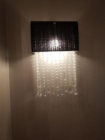 Candeeiro de parede com cristal