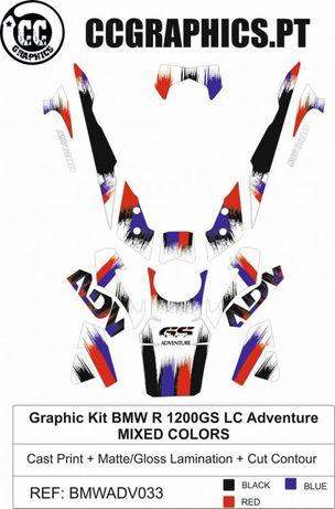 Kit autocolantes bmw gs 1200 lc adventure