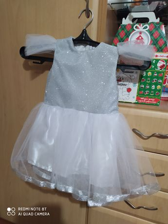 Платье снежинки для девчушки