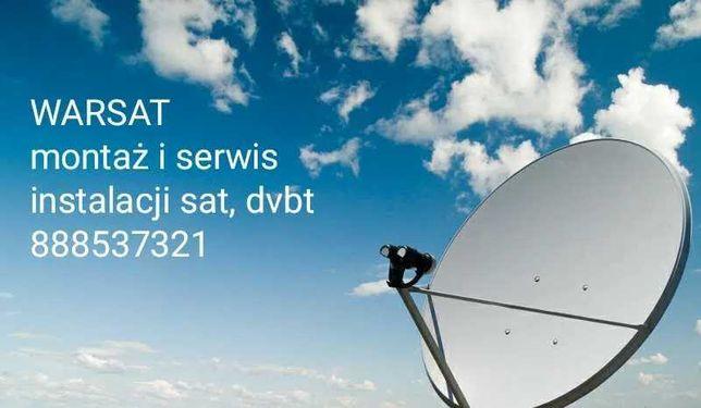 Montaz anten sat, dvb-t Łomianki