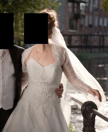 Suknia ślubna rozm. 42, wzrost 174-180 cm