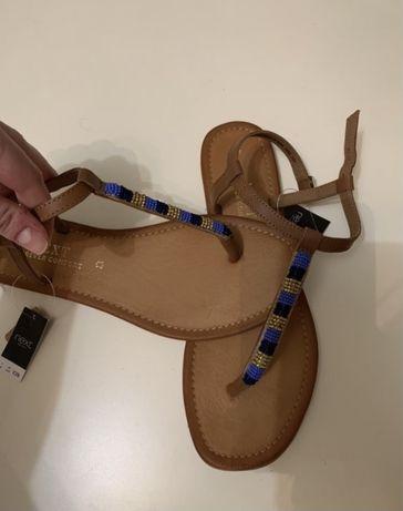 Sandały skórzane next rozmiar 41 japonki rozmiar 41 40