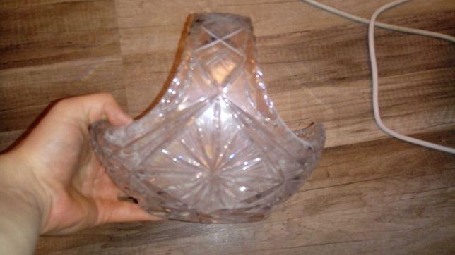 Koszyk kryształowy prl