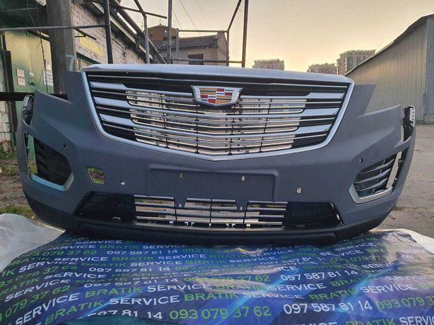 Cadillac xt5 бампер решетка радиатора усилитель