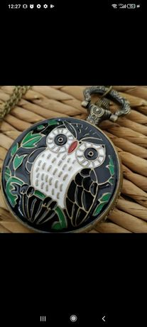 Zegarek na łańcuszku z sową prezent!