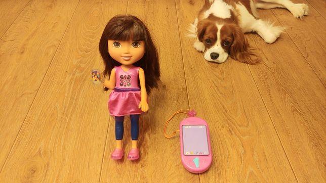 Lalka Dora z telefonem - super stan.