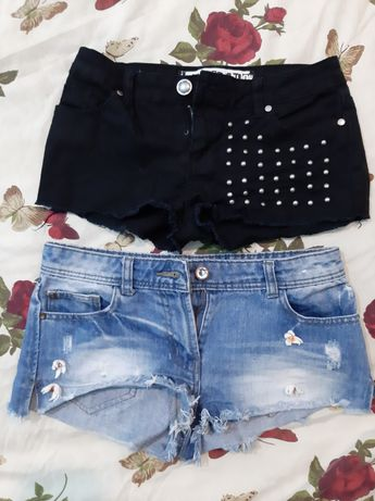 Джинсовые шорты на девочку подростка