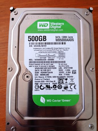 Disco rigido Western Digital 500gb  Sata/ 32mb cache