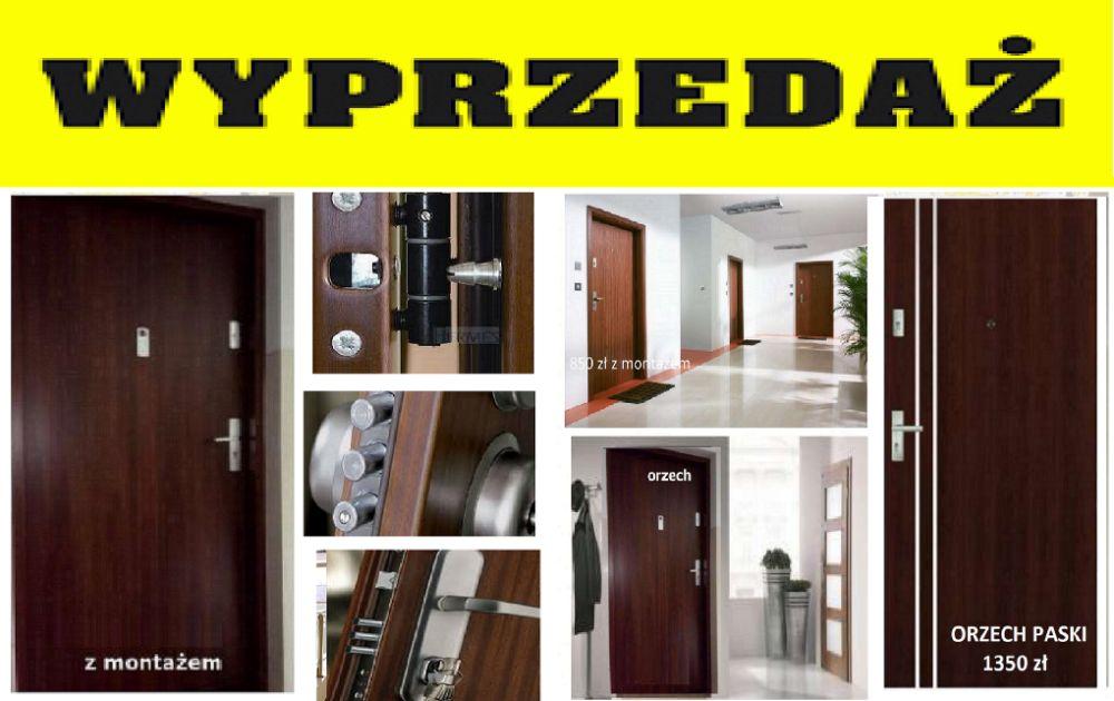 Drzwi wzmacniane do bloku. ZEWNĘTRZNE wejściowe z montażem , TANIO Lublin - image 1