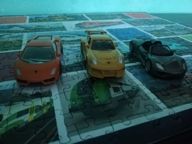 Porsche i Lamborghini w skali 1:64