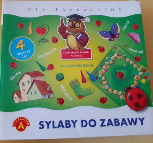 Sylaby do zabawy gra logopedyczna 5+