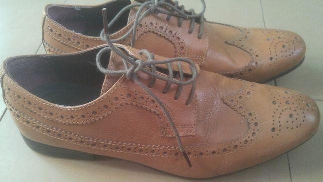 туфли броги Topman 41р. 26,5см нат. кожа