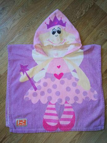 Полотенце пляжное пончо с капюшоном для на девочки