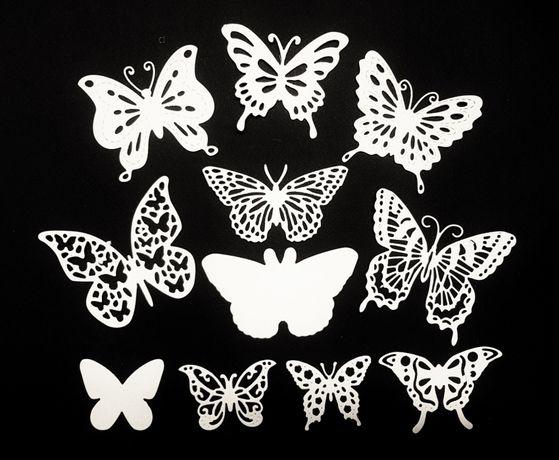 Бабочки для скрапбукинга и декора. Вырубка.