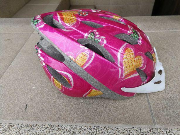 Kask dziewczecy na rower rolki rozmiar S