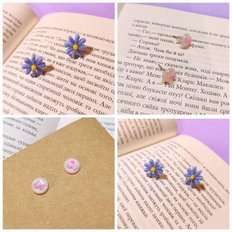 Сережки гвоздики, серьги, цветочки, бижутерия