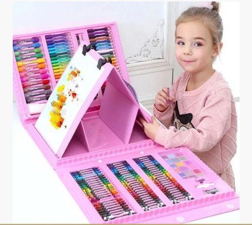 Набор для детского творчества в чемодане 208 шт , набор для рисования